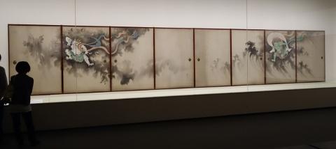 鈴木其一《風神雷神図襖》東京富士美術館蔵